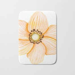 One Orange Flower Bath Mat
