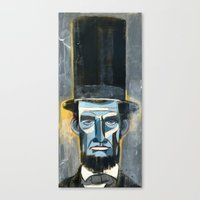 lincoln Canvas Prints featuring Lincoln  by Oliver Dominguez