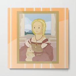 Lady with Unicorn by Raphael Metal Print