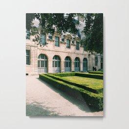 Private Paris Garden Metal Print