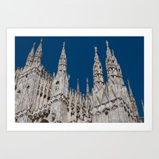 Gothic skies Art Print