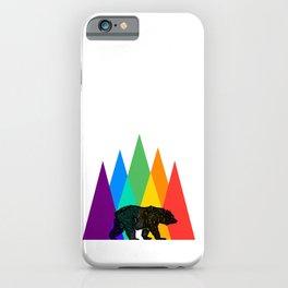 Rainbow Bear Pride LGBT GAY pride season gay bears mountains gift iPhone Case