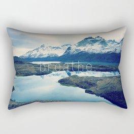 breathe. Rectangular Pillow