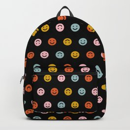 Smiley - Black Multi Backpack