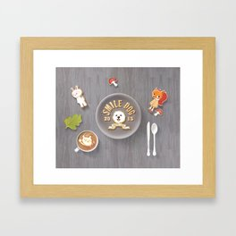 SmileDog Icing Cookies Framed Art Print