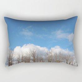 Blue Lined Skies Rectangular Pillow