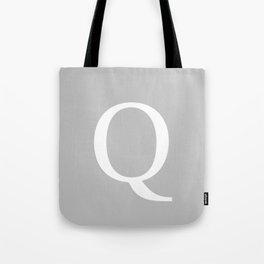 Silver Gray Basic Monogram Q Tote Bag