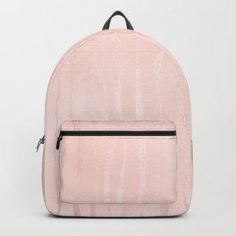 Rose Gold Pastel Pink Vertical Stripes Backpack