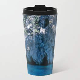 NATURE'S WONDER #4 - BLUE GROTTO #art #society6 Travel Mug