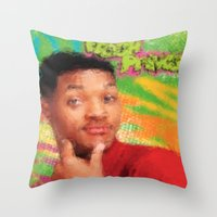 fresh prince Throw Pillows featuring Will Smith - Fresh Prince by Alice Z.