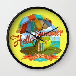 Hello summer and hello sea! Wall Clock