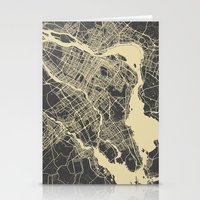 montreal Stationery Cards featuring Montreal Map by Map Map Maps