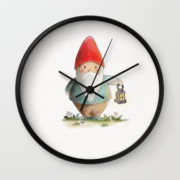 Lantern Gnome Wall Clock