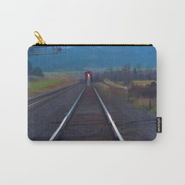 Wrong Side of the Track - Oncoming Train Carry-All Pouch