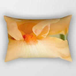 Bearded Iris Orange Harvest Rectangular Pillow