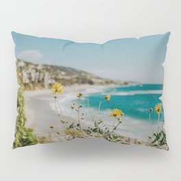 Laguna Beach and Yellow Flowers Pillow Sham