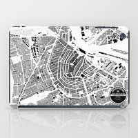 amsterdam iPad Cases featuring AMSTERDAM by Maps Factory