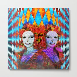"""""""Just One More Girl and a Flame Tree"""" by surrealpete Metal Print"""