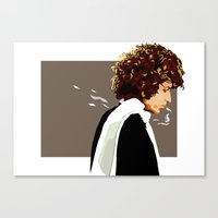 dylan Canvas Prints featuring dylan by hille