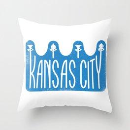 Kansas City Crown Throw Pillow