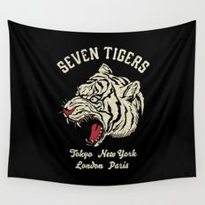 Seven Tigers Wall Tapestry