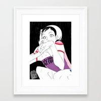 lizard Framed Art Prints featuring lizard by JohannaTheMad