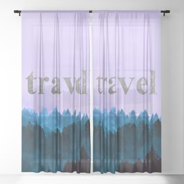 Travel - Forest Wanderlust Sheer Curtain