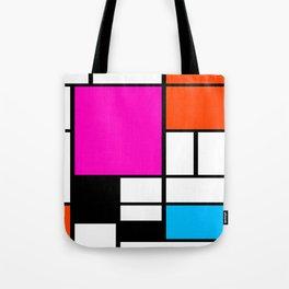 Mondrian Pink Tote Bag