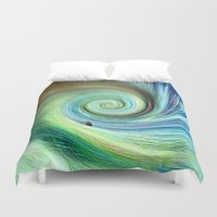 surf Duvet Covers featuring Surf by  Agostino Lo Coco