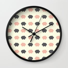 Sweet piggy Wall Clock