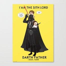 Darth Father  Canvas Print