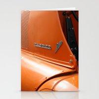 porsche Stationery Cards featuring Allgaier Porsche by Christine baessler