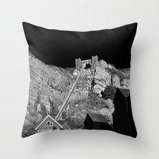 East Hill Cliff Railway Throw Pillow