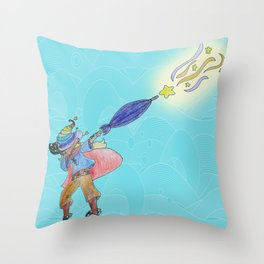 Abraca-DAB-ra Throw Pillow