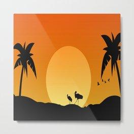 Sunrise and sunset Metal Print