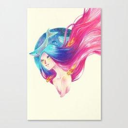 Goldfish Girl Canvas Print