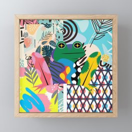 Frog Abstract Framed Mini Art Print