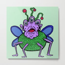 Fly Monster Metal Print