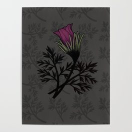Pasque Flower Poster