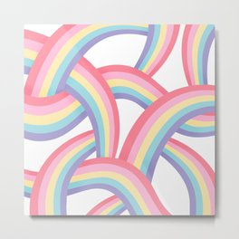Rainbow abstract pattern Metal Print