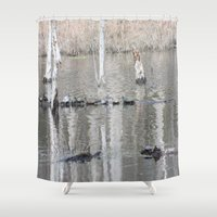 turtles Shower Curtains featuring Turtles, turtles everywhere by Twilight Wolf
