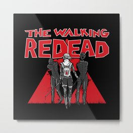 The Walking Redead Metal Print