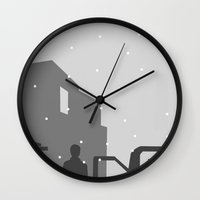 silent hill Wall Clocks featuring Silent Hill by Chandler Payne