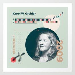 Beyond Curie: Carol Greider Art Print