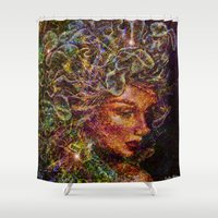 medusa Shower Curtains featuring Medusa.... by shiva camille