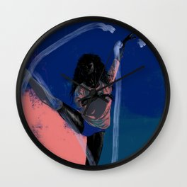 Black Dancer Magic Wall Clock