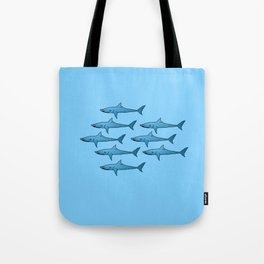 military of sharks Tote Bag