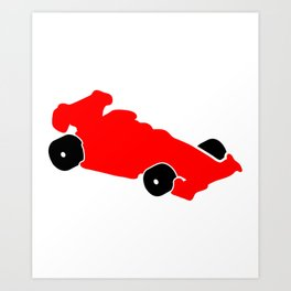 Fast Red Supercar Icon Art Print