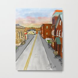 Mainstreet Brunswick, MD Metal Print