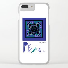 Peace Out of Darkness Clear iPhone Case